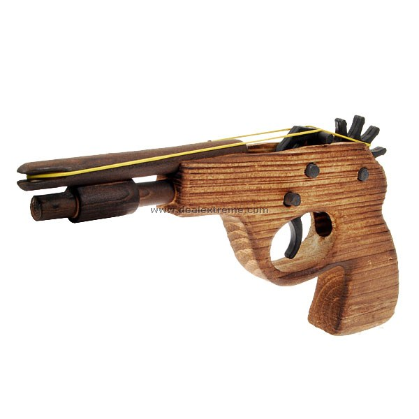 pro commerce wooden rubberband handgun